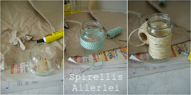 diy upcycling citronella lampen aus alten schraubgl sern einfach elsa. Black Bedroom Furniture Sets. Home Design Ideas