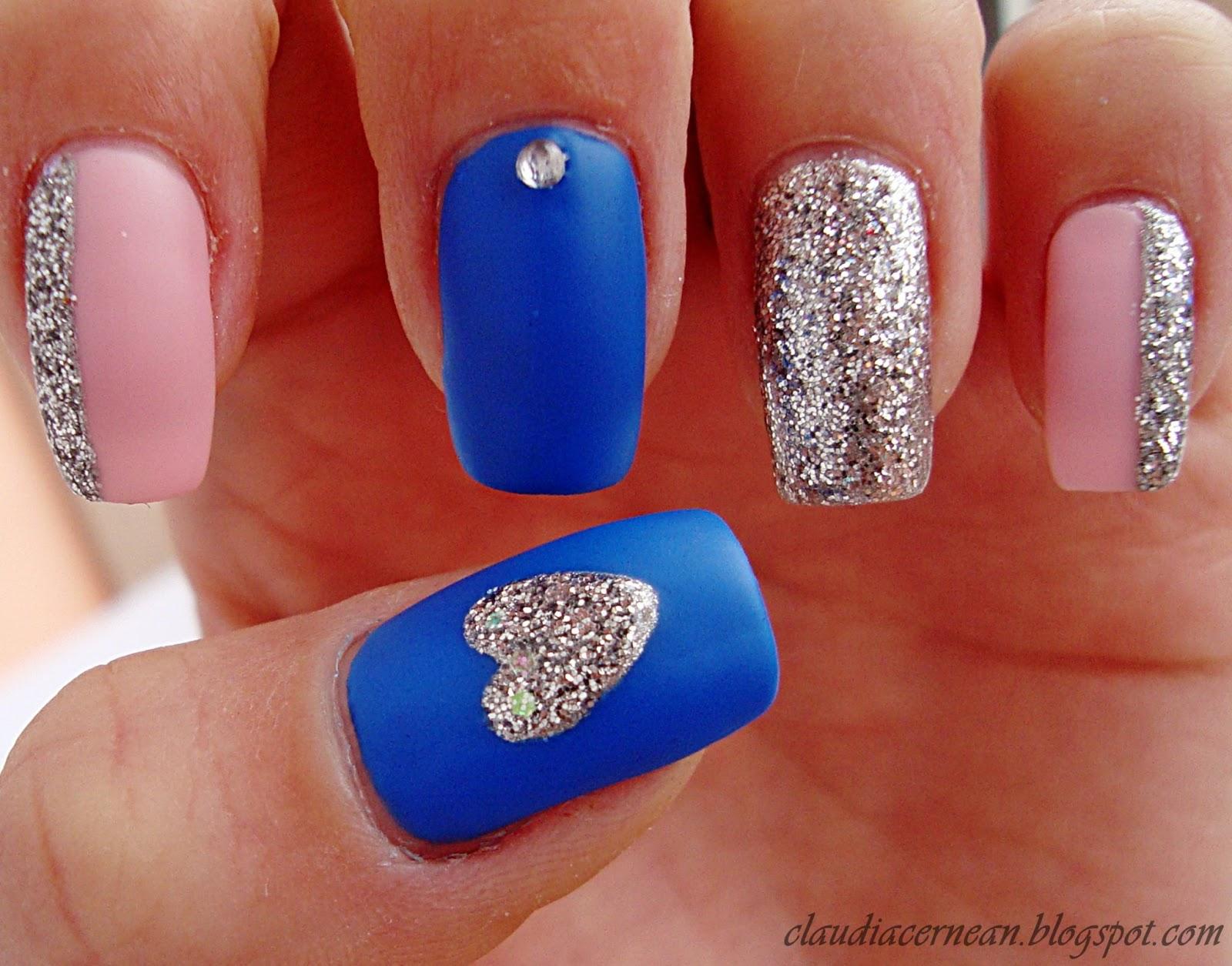 Nails Art Tutorials Unghii Cu Inimioara Argintie Silver Heart Nails
