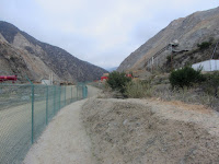 On Fish Canyon access trail in Vulcan Materials' Azusa Rock quarry