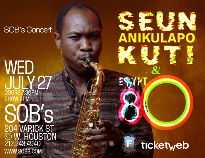 Seun Kuti: The Afrobeat Blog: Seun Kuti Returns To SOB's