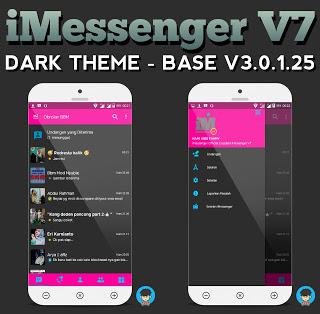 Download BBM MOD IMESSENGER V7 DARK THEME V.3.0.1.25 Newest
