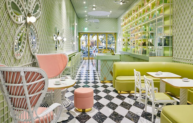Interior Laduree Beverly Hills