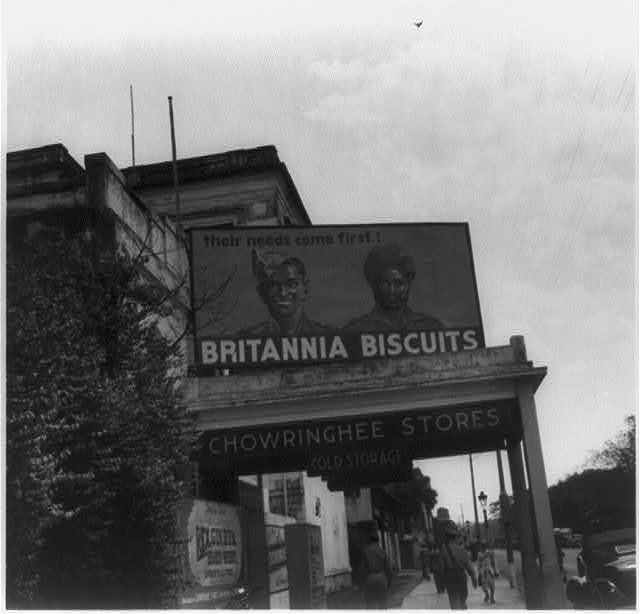 Advertisement of Britannia Biscuits in Calcutta (Kolkata) Street - 1945