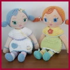Muñecas amigurumi con coletas