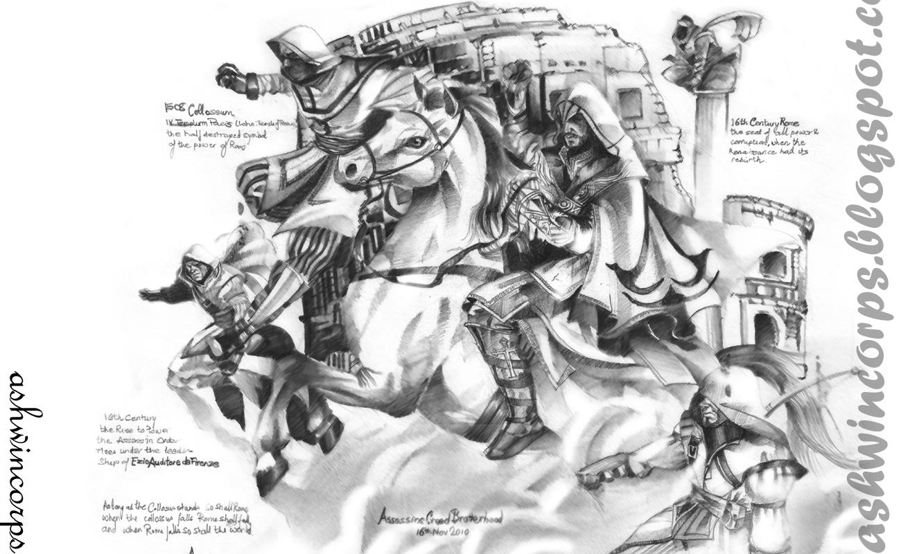 Ashwin Kumar Art Ezio Auditore Da Firenze