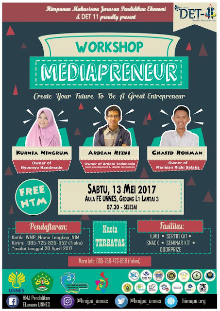 "HIMA PE & DET 11 Present ""Workshop Mediapreneur 2017"""