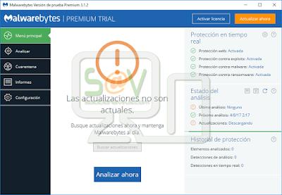 Actualización Malwarebytes