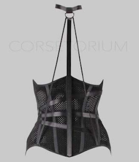black corset linda evangelista underbust corset london luxury editorial latex gloves korsett avantgarde