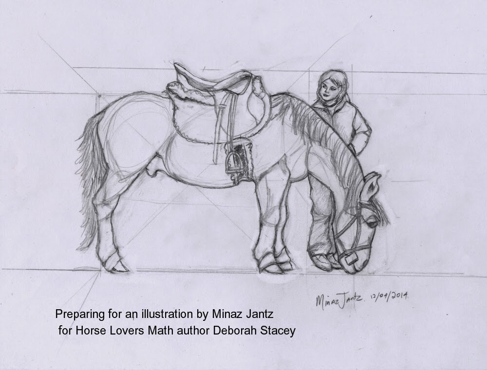 Horse Lover Math workbook by Deborah Stacey