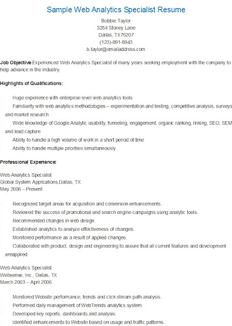 Marketing web specialist cover letter
