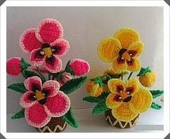 Tığ işi Çiçek Motifleri 2