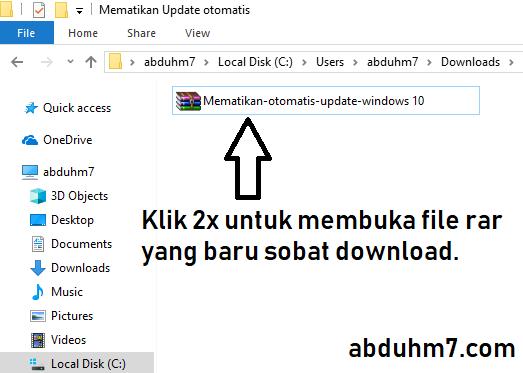 Buka file Rar yang sudah sobat download
