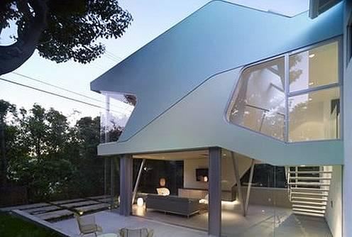 Casa moderna diseño de vanguardia y perfil futurista