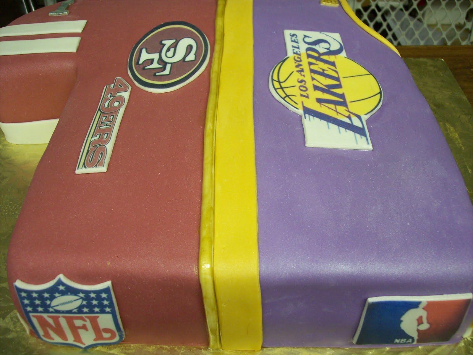 49er Laker Jersey Grooms Cake