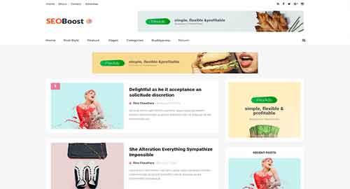 SeoBoost SEO Optimized Blogger Template