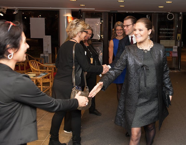 Crown Princess Victoria of Sweden and Prince Daniel attended the aid concert 'Playing for Life' for refugees in Europe in Berwaldhallen.