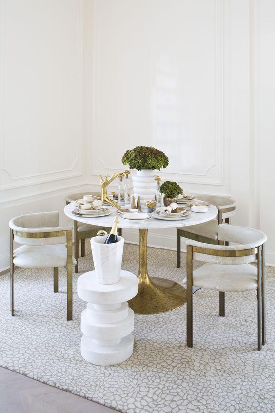 blog deco - detail couleur cuisine dore laiton