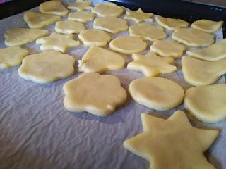 Teglia con biscotti