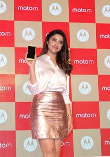 Parineeti Chopra Stills in Golden Mini Skirt at Motorola Moto M Launch  0008.jpg