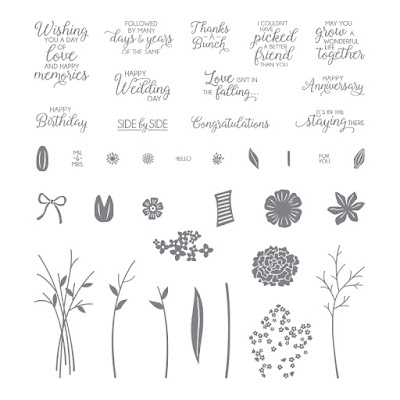 Take a look at the Beautiful Bouquet stamp set by Stampin' Up! Available in the UK.