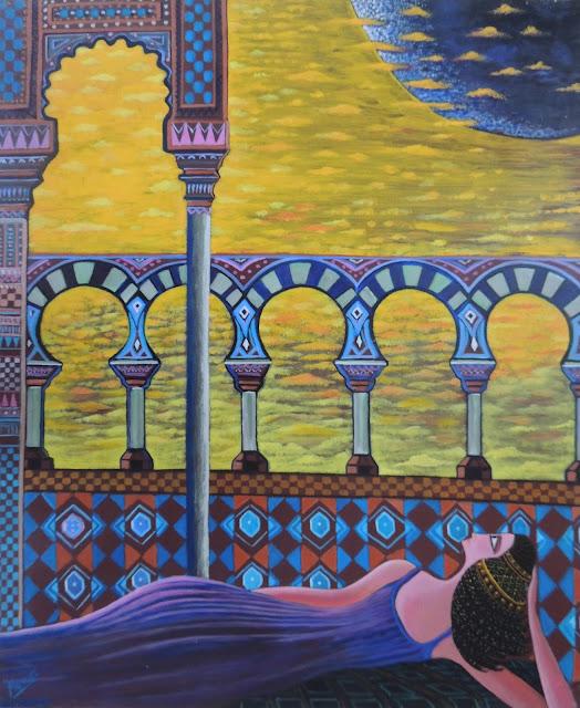 Obra de arte en venta Manuel Carmona: pintura harén