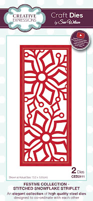 Festive Collection Stitched Snowflake Striplet Dies - CED3111