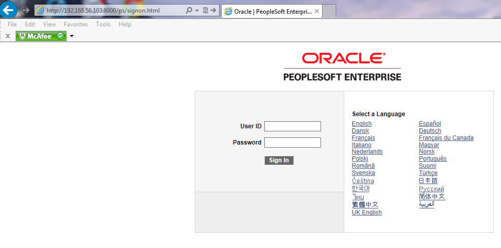 peoplesoft login fscm peopletools examples following should screen