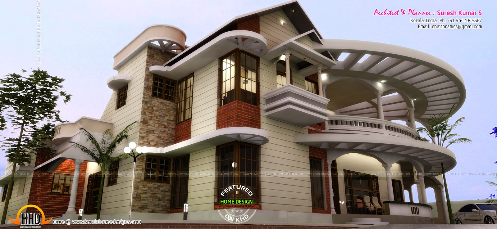 Great looking house design by suresh kumar kerala home for Neat house designs