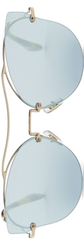 Miu Miu 62MM Mirrored Butterfly Sunglasses Blue