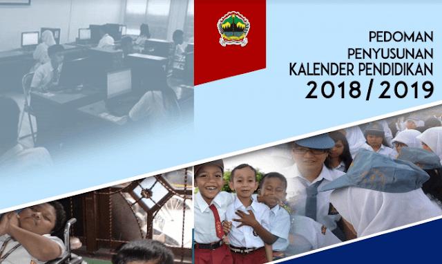 Jawa tengah akhirnya telah diterbitkan oleh Dinas Pendidikan dan Kebudayaan Provinsi Jawa Kalender Pendidikan 2018/2019 : Jawa Tengah