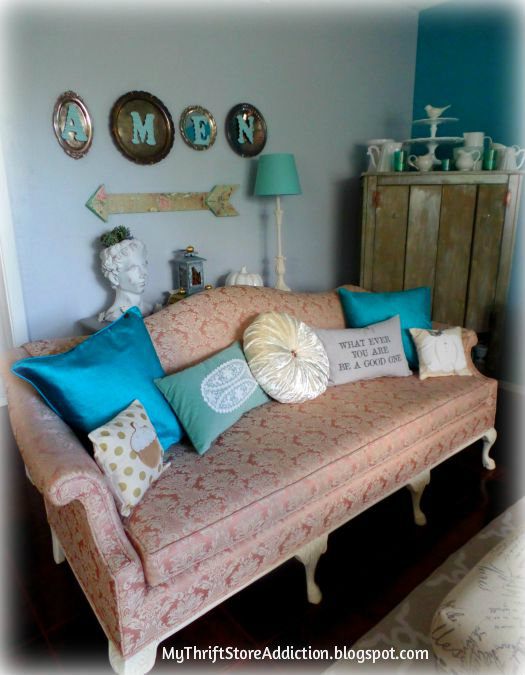 Upcycled bargain pillows