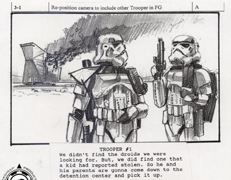 Star Wars\u0027 Fan Film \u0027Troops\u0027 Storyboards By Eric Hilleary and Dave