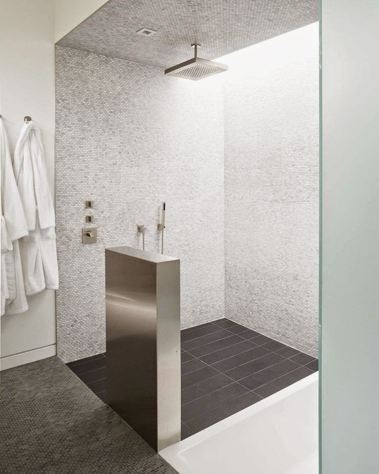 Open Showers Design For A Modern Facility In The Bathroom