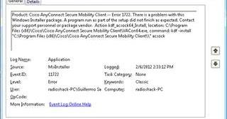 Error 1722 Installing