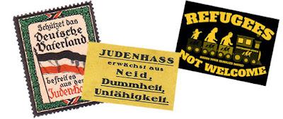 En Berlín se exponen 150 años de afiches y pegatinas antisemitas