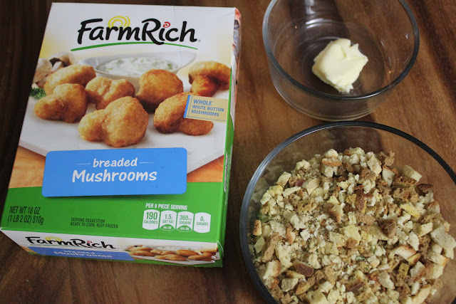 Make a delicious Crispy Mushroom Stuffing for your next holiday meal in just 20 minutes with Farm Rich products!