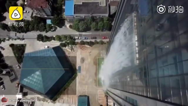 Artificial Waterfall Pours Out Of Guiyang Skyscraper 8