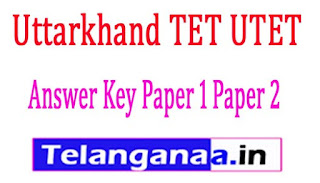 UTET Paper 1 Paper 2 Answer / Cut Marks 2017