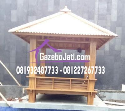 Gazebo Minimalis Jati
