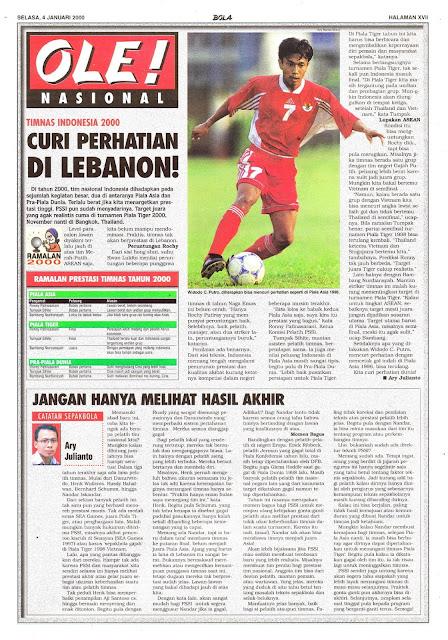TIMNAS INDONESIA 2000 CURI PERHATIAN DI LEBANON