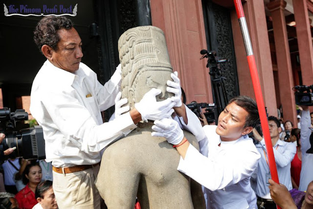 French Museum returns looted statue head to national museum in Phnom Penh