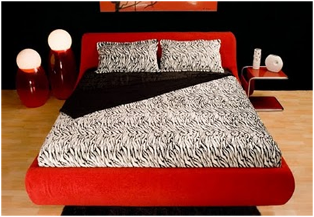 UPHOLSTERED BEDS RED - MODERN BEDROOMS - TAPESTRY FOR DORMS