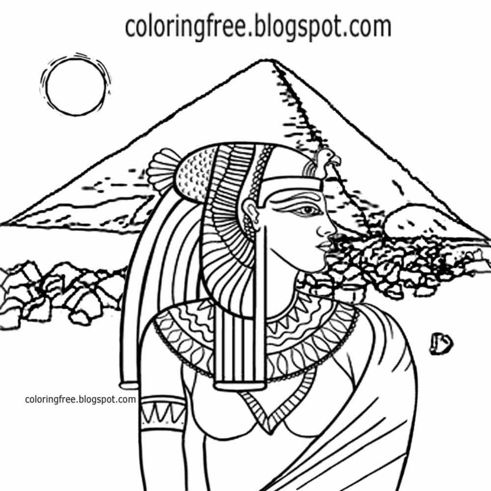 Printable Egyptian Drawing Egypt