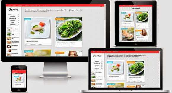 Foodie blogger template