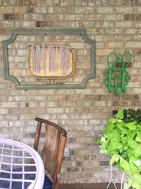Boho porch wall decor