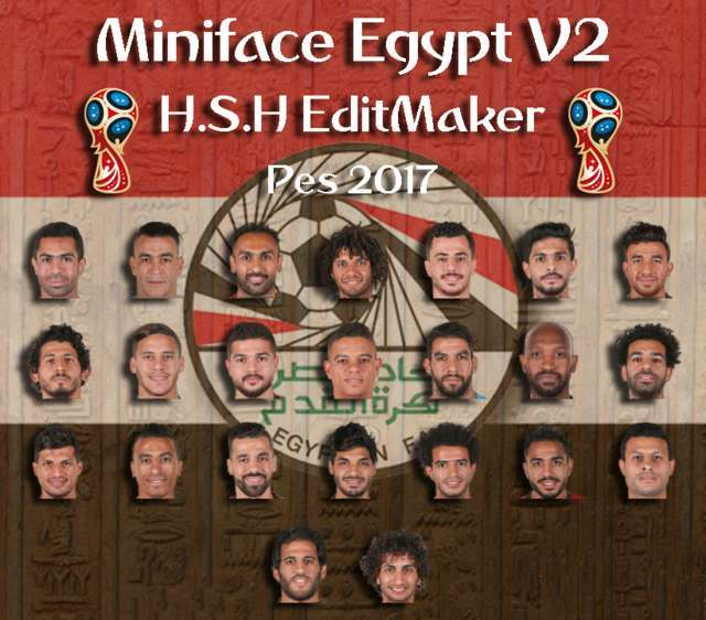 Miniface Egypt World Cup 2018 PES 2017