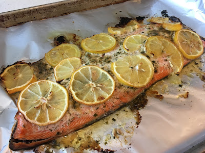 Lemon-Dill Topped Salmon