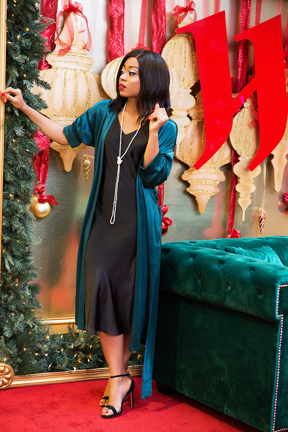 Shane Co jewelry, holiday style, slip dress, www.jadore-fashion.com