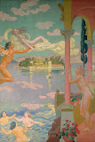 Panel 2. Zephyr Transporting Psyche to the Island of Delight by Maurice Denis - Religious Paintings from Hermitage Museum
