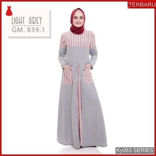 Ky063g78 Gamis Muslim Bqariah Murah Dress Bmgshop Terbaru